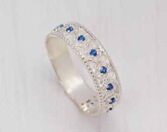 Unique sapphire ring Etsy