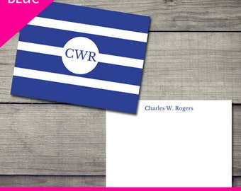 Just Call Me Stripes Stationery - Blue - DIGITAL DOWNLOAD ONLY