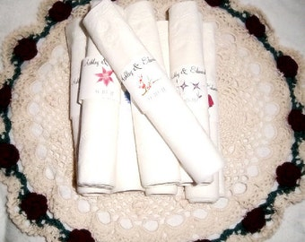 100 Cherry Blossoms Wedding Napkin Ring Cuffs Wraps. Personalized Favors