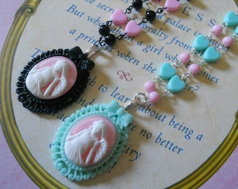 angel necklace and heart beads