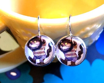 Where the Wild Things Are monster cabochon earrings- 16mm
