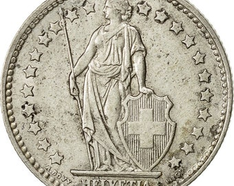 switzerland franc 1958 bern ef(40-45) silver km24