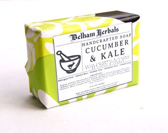 CUCUMBER & KALE Herbal Soap, Wholesale Soap, Handmade Soap, Kale Soap, Cucumber Soap, Mother's Day Gifts, Spring Gifts, Gifts for Her, Soaps