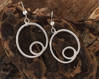 Sterling loop-d-loop earrings