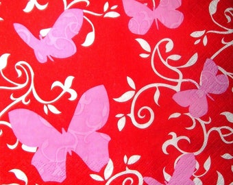 """Butterflies 2"" towel"
