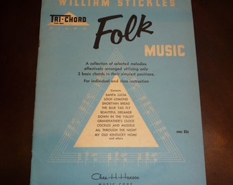 Vintage  1950s Folk Music by Willam Stickles