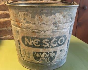 Galvanized Vintage Nesco bucket