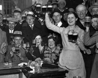 Prohibition repeal 1933 Beer bar scene 8x10 photo wall art poster print decor