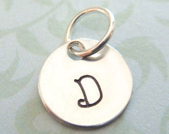 Hand Stamped Necklace - Personalized Jewelry - Add on Initial Disc