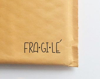 Fragile Stamp for Shipping, Etsy Shop Stamp, Shipping Stamp, Packaging Stamp, A Christmas Story, Stamp for Shop Owners, Hand Lettered Stamp