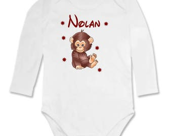 Little Monkey personalized with name Bodysuit