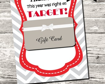 INSTANT DOWNLOAD This Year Was On Target Thank You Card Teacher Thank You Printable Digital
