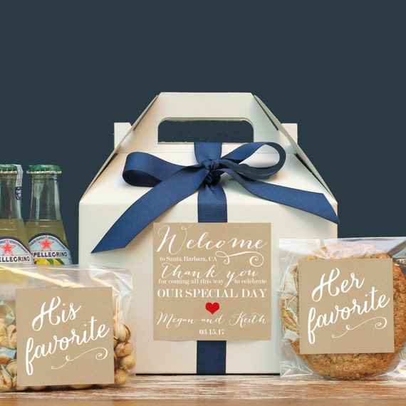 Wedding Gift Bag Ideas For Out Of Town Guests: Set Of 6-Out Of Town Guest Box / Wedding Welcome Box / Wedding