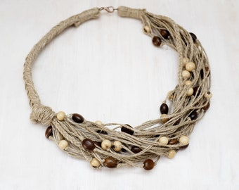 Levona Linen necklace