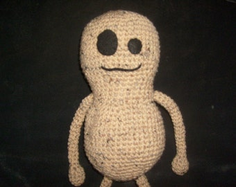 Crochet Pattern-large Peaburt the peanut crocheted doll  PATTERN ONLY