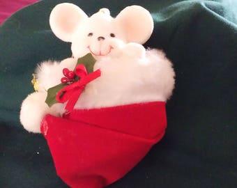 Vintage Avon Peek-A-Boo Mouse Ornament