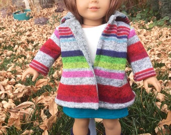 Doll coat fits 18 inch dolls like American girl dolls, 18 inch doll jacket, doll coat, dolls, 18 inch doll clothes, winter clothes for dolls