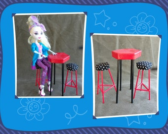 "11"" Doll Bistro Set Perfect For Monster High Barbie"