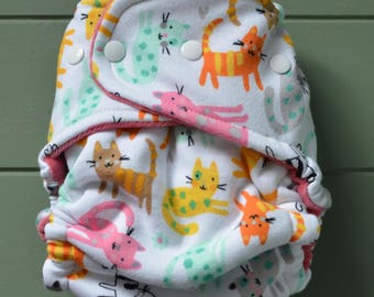 Kittens OS Fitted Cloth Diaper