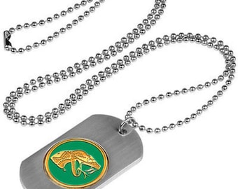 Florida A&M Rattlers Stainless Steel Dog Tag Necklace