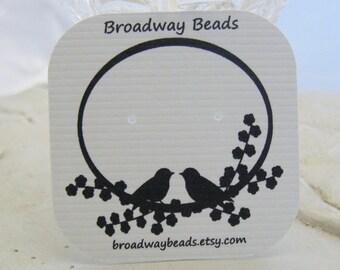60 Custom Earring Cards Jewelry Birds Flowers Branch