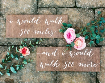 Mr and Mrs Signs, Mr and Mrs Chair Signs, Mr and Mrs, I would walk 500 miles sign, Wooden Wedding Signs, Mr Mrs signs, Mr Mrs chair signs