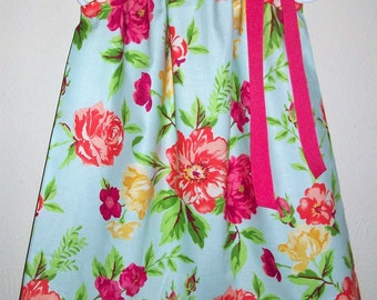 Pillowcase Dress with Flowers, Girls Dresses, Pretty Dresses, Summer Dresses, Floral Dresses, Colorful Flowers, Kids Clothes, Baby Dresses