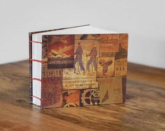 Travel Journal // Handbound Book // Art Journal // Unlined Blank Book // Handbound Sketchbook // Coptic Stitch Book // Diary