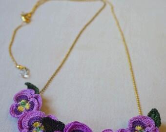 Violet Crochet Necklace