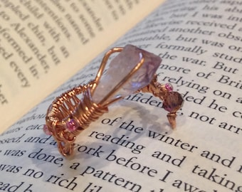 Wire Wrapped Amethyst Ring