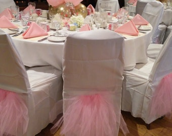Tutu Chair Skirt // Ballerina Party Decoration for Chairs // Pink Chair Decoration