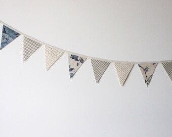 French Country Cottage Mini Fabric Bunting