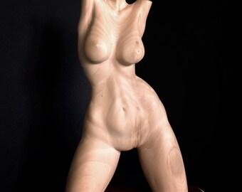 """Wood Sculpture, Female Torso, """"GRACE"""""""
