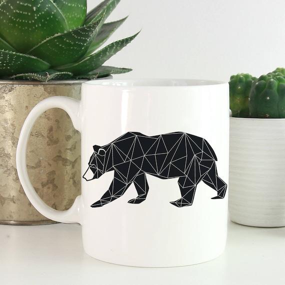 Geometric Animals Coffee Mug - Bear Coffee Mug - Animals Mug