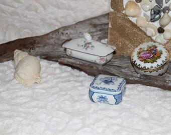 set of 3 box porcelain _ box _ jewelry