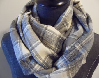 2 Size Options.Fall.Winter.Christmas.Scarves.Infinity Scarves.Scarf.Flannel.Gift for Him.Gift for Her.Tube scarf.Circle Scarf