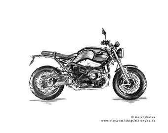 Motorcycle Gifts Motorcycle Art Motorcyclist Gift Motorcycle Print Motorcycle Wall Art BMW Poster BMW Motorcycle Motorcycle Gift Him BMW