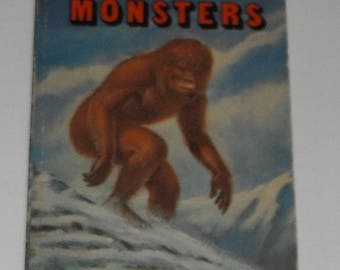 The Truth About Monsters by Michael Shulan Vintage Softcover Book 1979