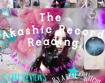 AKASHIC RECORD / PSYCHIC Reading ~ By A Real British WiTcH! ~Mermaids & Witches ~ Includes a digital download