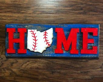 HOME Ohio Baseball Sign