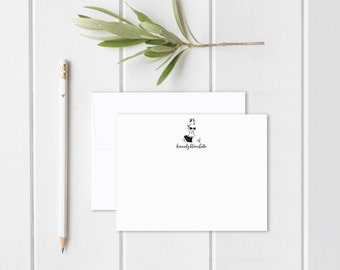 Personalized Stationery. Personalized Notecard Set. Personalized Stationary. Fashion. Silhouette. Illustration. Sketch. Fashion Stationery.