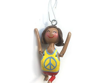 Namaste Collection:  Ciera (Ornament) - Warrior 1 Pose - CAN BE PERSONALIZED w/ Add-On Option