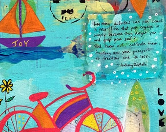 Joy -032-Mixed Media Painting by Carianne James