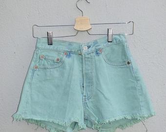 Vintage Pastel Blue Levi Strauss Shorts