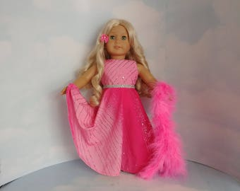 Pink Rainbow Gown 18 inch doll clothes - #214