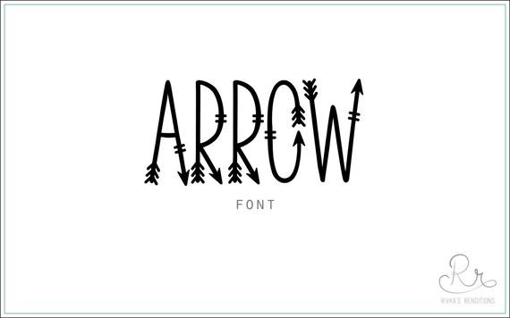 Arrow Font download // OTF / TTF Open Type Fonts //Digital