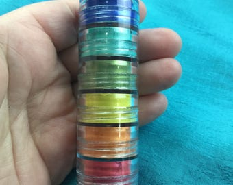 Summer Brights STACKING 6 Mica Powders pigment for polymer clay and mixed media