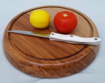 Wooden cutting board,custom made cutting board,round cutting board,Pecan wood cutting board,Large cutting board,kitchen gift, DRW-178