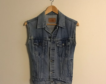 Vintage Gap Distressed Denim Vest