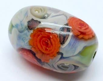 Lampwork Beads - Glass Jewelry - Artisan Glass Beads - Glass Pendant - Lampwork Glass Beads - Glass Necklace - Lampwork Focal Bead - OOAK